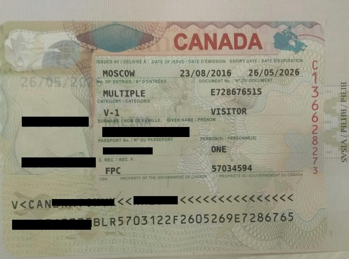 Виза в Канаду для белорусов